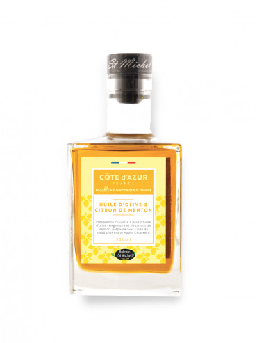 Carafe Extra Virgin Olive Oil and Menton Lemons 500ML
