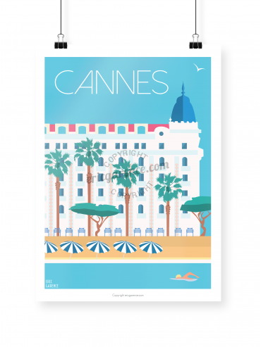 Cannes poster illustrated by Eric Garence