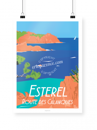 Estérel poster illustrated by Eric Garence