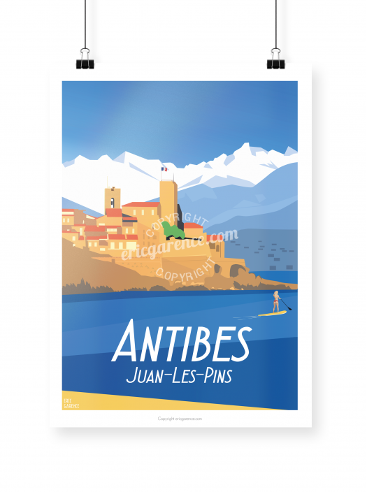 Antibes poster illustrated by Eric Garence