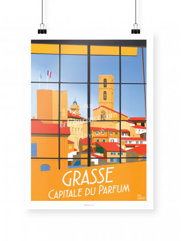 Grasse poster illustrated by Eric Garence