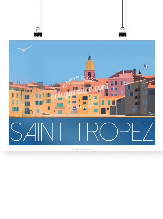 Saint Tropez poster illustrated by Eric Garence